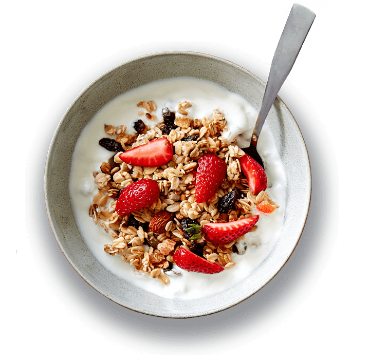 Granola and yogurt